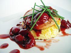 Sautéed Foi Gras with Brioche and Cherry Sauce