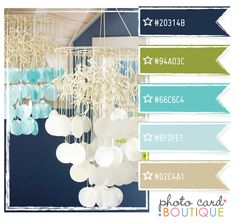 Navy, aqua and green color palette