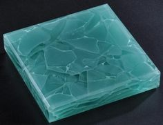 Elements glass for counter top in Beryl Green.  #recycled glass #countertop #greenglasscounterrops