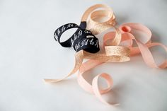 White Aster Posy with Studio Carta Ribbon, ribbon, by Justine Hand