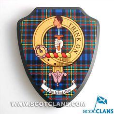 MacLellan Clan Crest Wall Plaque: