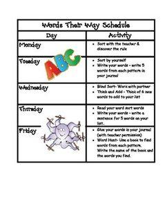 Words Their Way Homework Schedule - image 11