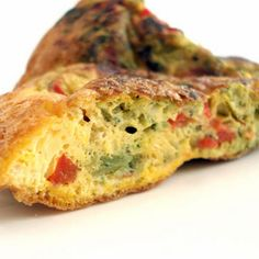 Stovetop Leftover Vegetable Frittata Recipe Breakfast and Brunch with eggs, cooked vegetables, grated sharp cheese, pepper, salt, olive oil