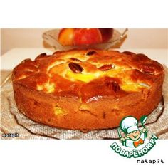 Пирог с персиками и орехами пекан