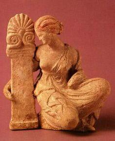 Tanagra Terracotta,3th cent. BC Greece