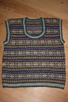 Fair Isle inspired waistcoat. My own pattern.