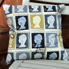 Postage stamp cushion