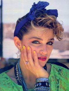 Madonna - has there ever been a celebrity that knew how to play the media better than Madonna? This picture captures her at her best, around 1984 when everything she did, and said. made waves.