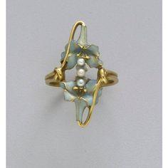 A lovely Lalique ring, circa 1900.