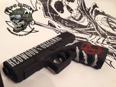 Glock 19 with Custom Sons of Anarchy - Samcro Themed Cerakote