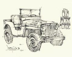 Chris Piscitelli Willys Jeep Print