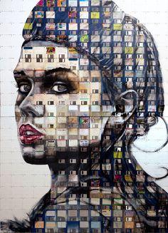 Central Saint Martins mezunu İngiliz sanatçı Nick Gentry, eski floopy diskleri kullanarak eşsiz portre çalışmaları yapıyor.  http://www.nickgentry.co.uk/  http://www.dhtasarim.com/nick-gentry-sanati-floopy-disk-portreleri.html
