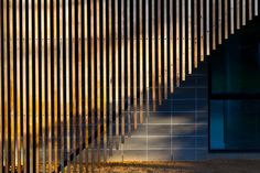 Timber balustrade - food for thought. Timber Battens, Timber Screens, Prefab Homes, Modular Homes, Stainless Steel Balustrade, Modular Home Designs, External Staircase, Wood Handrail, Stairs