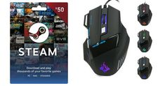 Enter To Win A $50 Steam Gift Card And Get An LED Optical Gaming Mouse Just By Sharing The Same Competition A Few Times!