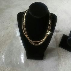 Avon Golden Necklace Trio brand-new ladies necklace gold tone Avon Jewelry Necklaces