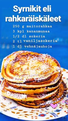 Pesco Vegetarian, Slow Food, Dessert Drinks, Recipes From Heaven, Desert Recipes, Yummy Cakes, Food Inspiration, Sweet Recipes, Pancakes
