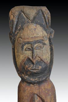 Abelam figure to celebrate the Yam harvest - Papua New Guinea Circa 1950