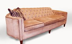 Hollywood Regency Tufted Shell Sofa by Omforme on Etsy, $750.00