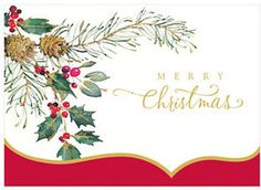 Viabella Pinecones and Holly Boxed Christmas Cards