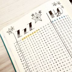 Bullet journal sleep tracker, bullet journal water tracker. | @littlebee_creative