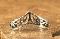 tiara de anillo del dedo del pie - plata