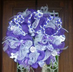This item is unavailable Purple Wreath, Wedding Wreaths, Burlap Crafts, Emerald City, Summer Wreath, Wreaths For Front Door, Deco Mesh, Baby Gifts, Swag