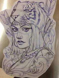 Resultado de imagem para drawing tattoo