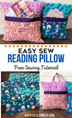 Looking for an easy sewing project to make for your kids? Learn how to make these absolutely ADORABLE reading pillows with our step-by-step tutorial. How To Sew A Reading Pillow in no time with our Easy Sew Reading Pillow Free Sewing Tutorial