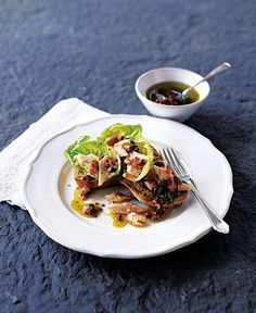This easy smoked trout recipe is perfect served on gem lettuce and bread, finished with a Provencale vinaigrette. This easy smoked trout recipe is perfect served on gem lettuce and bread, finished with a Provencale vinaigrette. Easy Soup Recipes, Healthy Recipes, Healthy Food, Trout Recipes, Smoked Trout, Romantic Meals, Fish Dishes, Saveur, Fish And Seafood