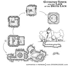Guimond's Tower and Lair of the Druid Lich