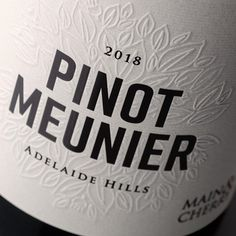 Chad Holman @chadholman - Small batch 2018 Pinot Meunier for @mainandcherry Featuring sculptured emboss on @spicersaus Manter Cotone Bianco. Printed and individually numbered by @labelpartners #winelabel #winelabeldesign #winedesign #winepackaging #packaging #packagedesign #adelaidehills #adelaidehillswine #smallbatch #pinotmeunier #schwarzriesling #noblevariety #design #graphicdesign #wine . Feature: @worldbranddesign Submit: worldpackagingdesign.com/submit . #packaging #branddesign… Wine Packaging, Packaging Design, Branding Design, Wine Label Design, Print Finishes, Wine Brands, In Vino Veritas, Design Graphique, Emboss
