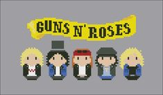 Guns N' Roses rock band parody PDF cross stich por cloudsfactory