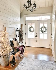 Foyer decorating – Home Decor Decorating Ideas Decor, Home, Foyer Decorating, Farmhouse Remodel, Decorating Your Home, Painted Fox Home, Front Door, House, Christmas Home