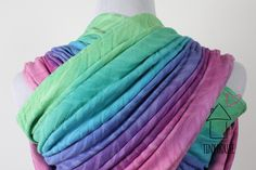 This Cari Slings Tigress was dyed in a smooth low water immersion in gorgeous tropical pastels.