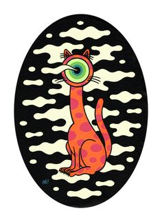 Cat Painting Oliver Hibert illustration graphic design art