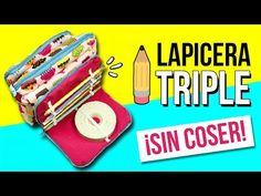 ¡¡Haz un ESTUCHE TRIPLE sin COSER!! * LAPICERA o CARTUCHERA Fácil de 3 BOLSILLOS - YouTube