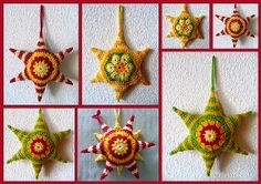 freechristmas chrochet | ... got to be the most unusual and original crochet stars I've ever seen