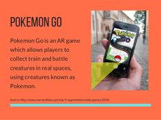POKEMON GO Pokemon Go is an AR game which allows players to collect train and battle creatures in real spaces, using creat. Augmented Reality Games, Virtual Reality Games, Ar Game, Mobile Game, Pokemon Go, Fails, Battle, Creatures, Train