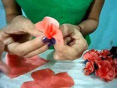 DIY - TUTORIAL Flores de Tecido Facil de Fazer!! ------ ; )