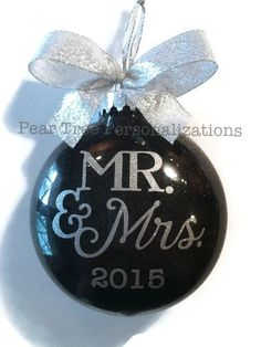 Hey, I found this really awesome Etsy listing at https://www.etsy.com/listing/227640933/mr-and-mrs-ornament-our-first-christmas