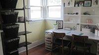 Like the storage unit on the desk. #craftroom