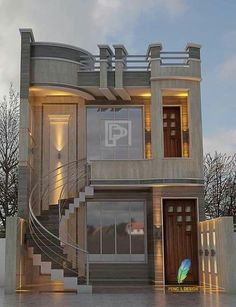 landscape architecture - 43 the most unique modern home design in the world 2019 38 > Fieltro Net Bungalow Haus Design, Duplex House Design, House Front Design, Modern House Design, Home Design, Modern House Facades, Design Ideas, Villa Design, Style At Home