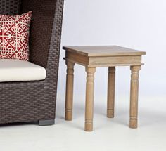 "ADD: (x1) Catalan Natural End Table for fireplace s'mores supplies Finish: Natural Wood  18"" sq. x 22.5"" H"