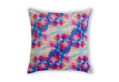 Love Life, Lovely Ebi Emporium #velveteen #throwpillow #cushion #pillow in #Australia, #fineart #bedding #pink #purple #plum #raspberry #radiant #pastel #white #turquoise #royalblue #blue #electric #yellow #abstract #painting #hotpink #pattern #ikat #organic #design #home #decor #decorative #bedroom #accessories #colorful #colourful #whimsical #feminine #prettyinpink #elegant #sweet