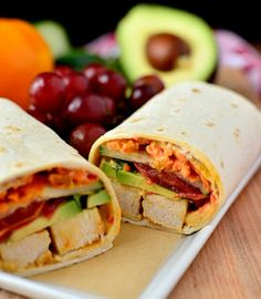 Sunshine Chicken Wraps - Great for lunch or dinner!