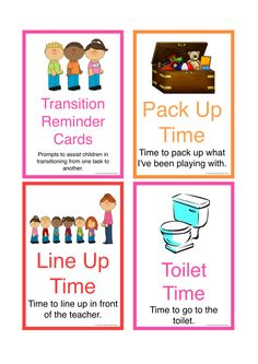 Activity Transition Cards designed to help children with Autism transition between activities in their educational setting. Part 1 of a set of 3. FREE Download.