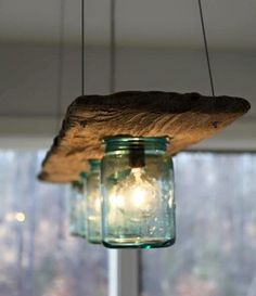 15 Breathtaking DIY Wooden Lamp Projects to Enhance Your Decor With homesthetics. 15 Breathtaking DIY Wooden Lamp Projects to Enhance Your Decor With homesthetics diy wood projects Mason Jar Lighting, Mason Jar Lamp, Pots Mason, Mason Jar Light Fixture, Diy Mason Jar Lights, Hanging Mason Jars, Wood Lamps, Glass Pendant Light, Pendant Lights