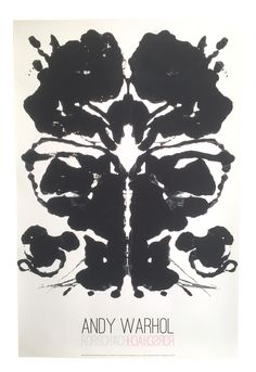 This original offset lithograph print poster of a Rorschach ink blot is by the world famous Pop artist Andy Warhol ( 1928 - 1987 ). Andy Warhol is one of the singularly most well known contemporary artists of all time, his imagery is recognized world wide and his infamous life, art works, and creative endeavors are like no other artist in the history of Modern Art. He is recognized as the very first artist to use common everyday objects and products and view them in a completely different…