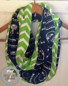 NFL Seattle Seahawks Chevron Infinity Scarf, HANDMADE 100% Cotton by  Studio7Scarves