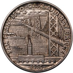 1936 S BAY BRIDGE 50C MS reverse